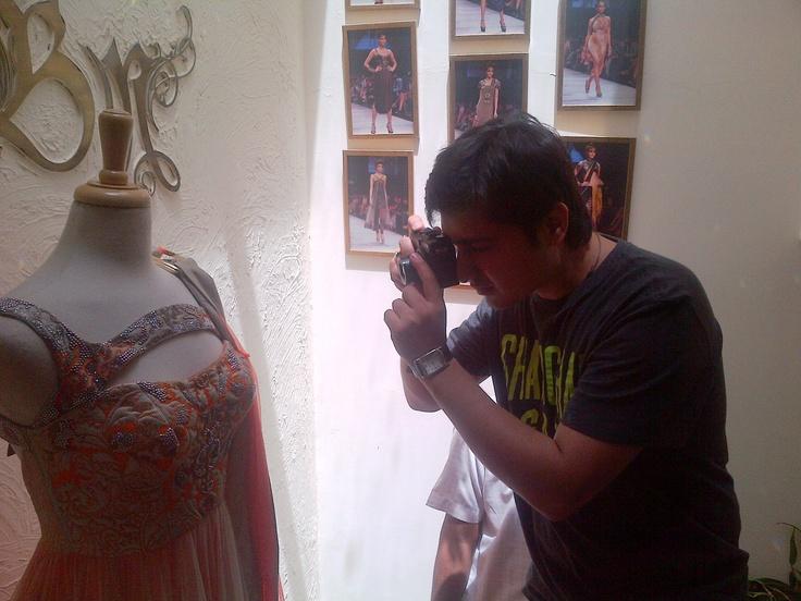 #Click, #Click, #Click #BridalWear at Babita M studio. Creative Saturdays!