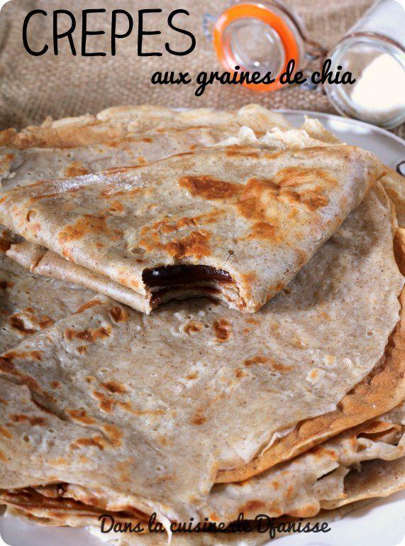 Crêpes véganes {yaourt et graines de chia}