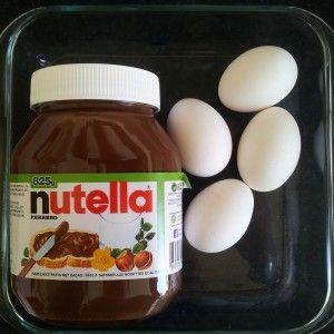 Comfortfood: Nutellabrownie uit twee ingrediënten.
