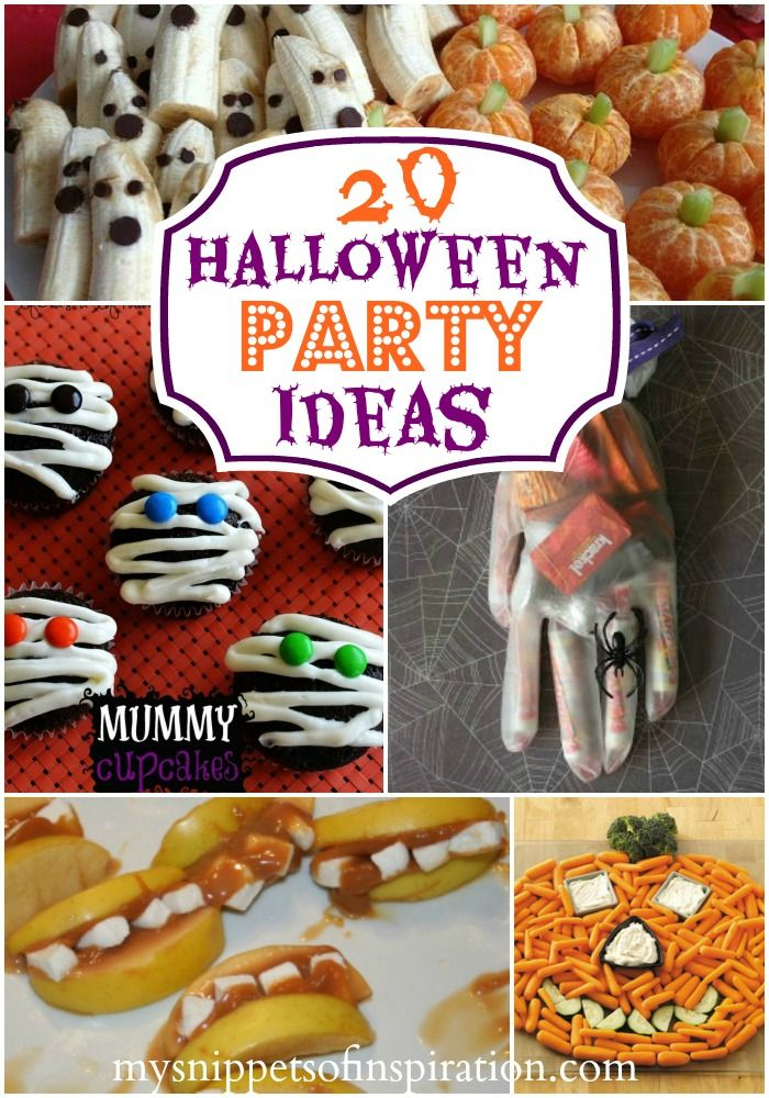 Halloween party ideas for food, decor and games!