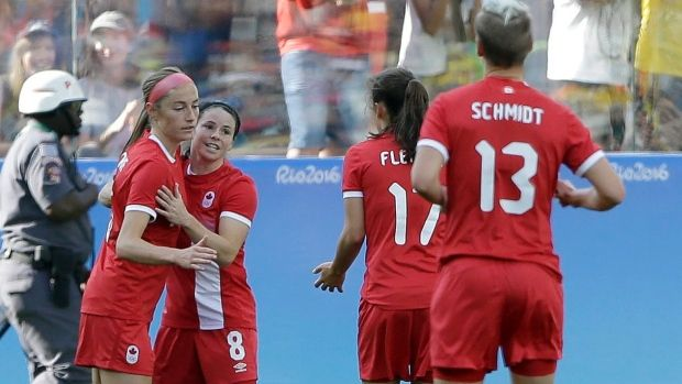 Canada clinched a spot in the Olympic women's soccer quarterfinals Saturday with…