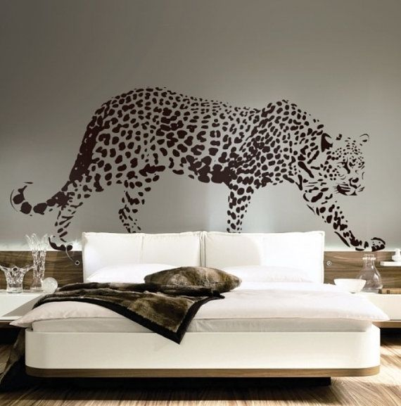 Leopard Wall Decal  Cheetah Wall Decal  Animal Decals