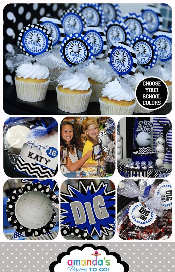 Volleyball Party Decorations -- Volleyball Banquet (Printable) ======================== WHAT YOU ARE PURCHASING: ======================== ►Volleyball Party for team volleyball banquet - Includes jersey number personalizations as well as your school team name or volleyball club team name and logo and mascot name. ►PDF files will be sent to your ETSY Email. No items are shipped in the mail.  ►Buy A la Carte HERE: (Package prices reflect an 85% discount): http://etsy.me/1xpz3IO…