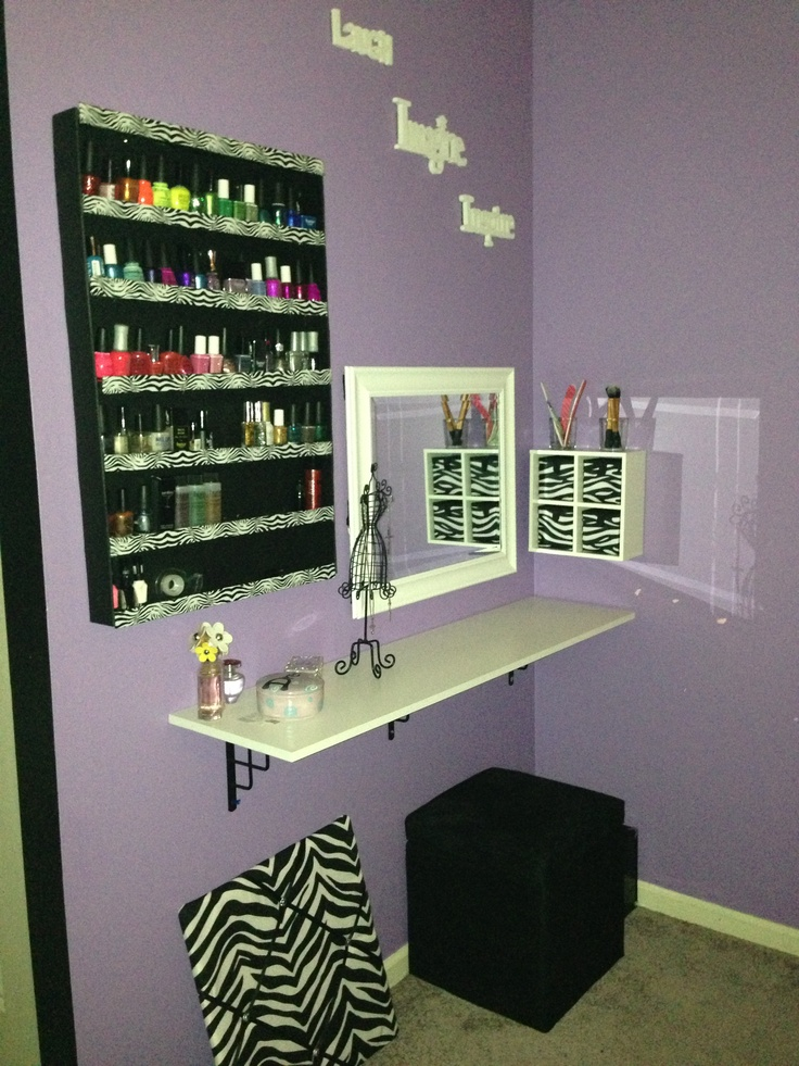 My new make up station!!! Hurray! - 83 Best MakeUp Ideas And Splendors Images On Pinterest