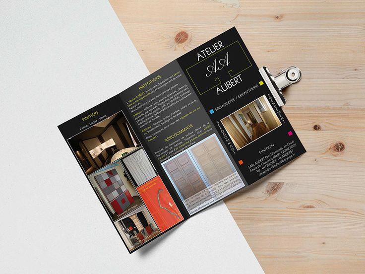 Création dépliant triptyque Atelier Aubert 69650 Quincieux. Agence de communication Saori en Beaujolais Val de Saône