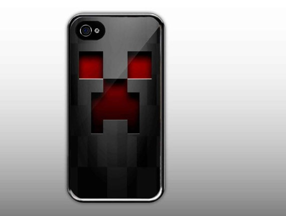 iPhone 4/4s Case  Minecraft Creeper Face Cute by NewCaseDesign, $15.50
