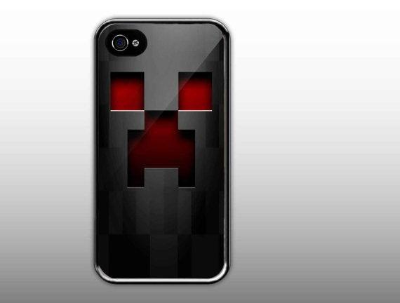 iPhone 4/4s Case  Minecraft Creeper Face Cute by NewCaseDesign, $15.50