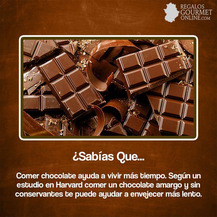 ¿#SabíasQueComer chocolate ayuda a vivir más tiempo?#Curiosidades#Gastronomía