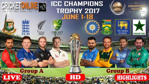 Live Icc Champions Trophy 2017: Online Cricket Streaming Live! - The Modern Mode Of Watching Cricket!
