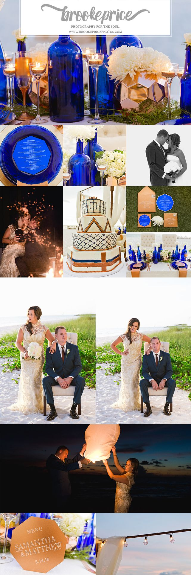 Gorgeous Copper and Cobalt themed wedding inspiration shoot!