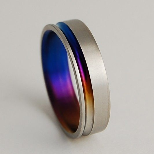 Titanium Ring The Cosmos in Bronze Mystic Purple by RomasBanaitis