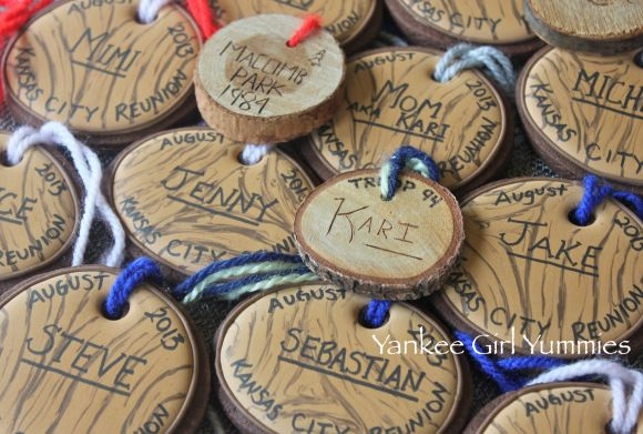Wood name tag cookies by Yankee Girl Yummies