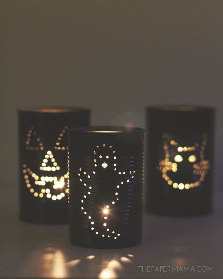 How to create spooky tin can lanterns