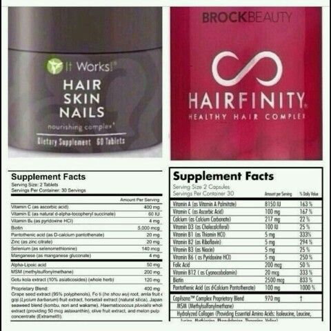 Check out the comparison!!! #Compare #HSN #vs #Hairfinity ...