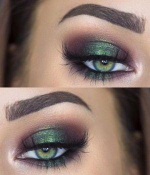 22 wunderschöne Augen Make-up für grüne Augen