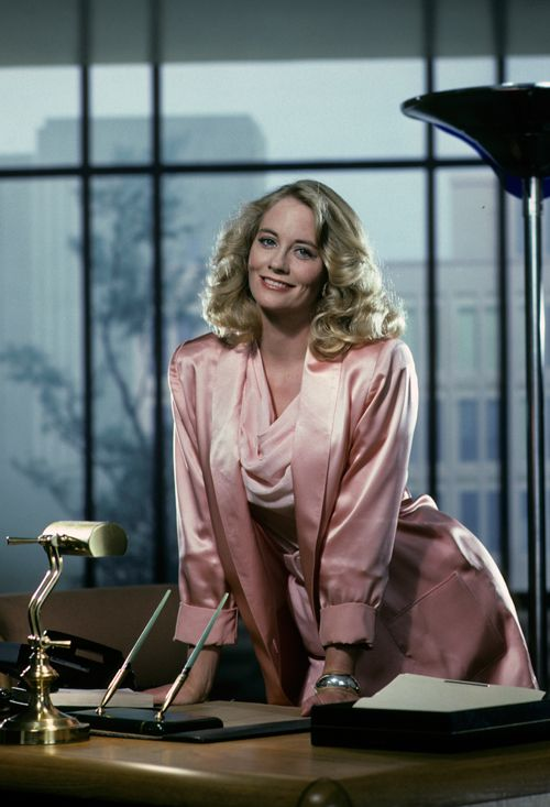 """Cybill Shepherd as Madelyn """"Maddie"""" Hayes in """"Moonlighting"""". The TV dramedy aired on ABC from 1985-1989."""