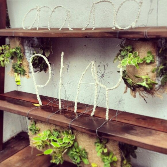 Hanging plant holders and wire crochet