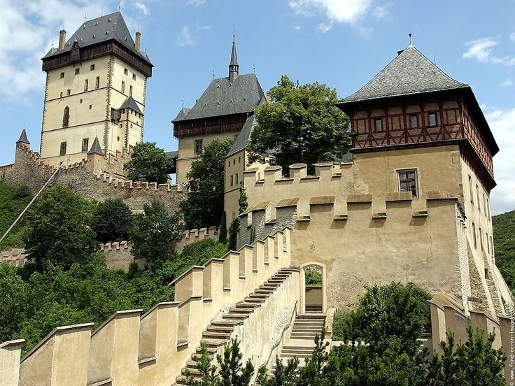 Great perspective of Karlstein Castle, an hour outside of Prague