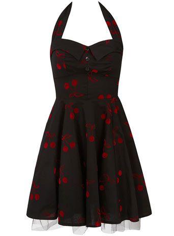 Black flock prom dress