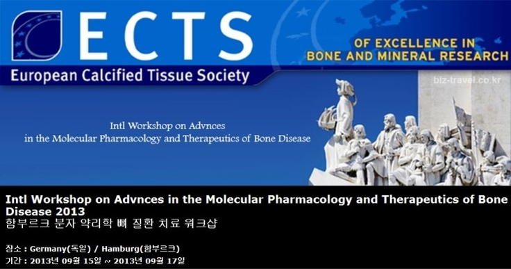 Intl Workshop on Advnces in the Molecular Pharmacology and Therapeutics of Bone Disease 2013 함부르크 분자 약리학 뼈 질환 치료 워크샵