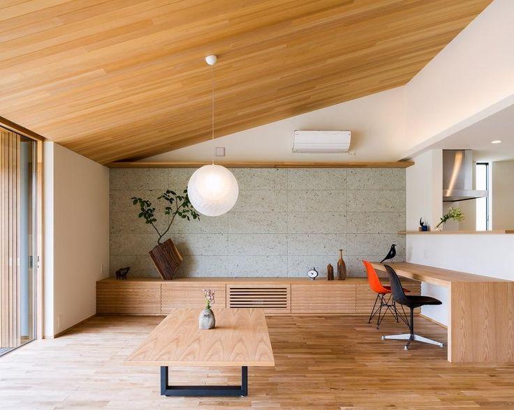 テレビボードのあるLDK(自然の恵みを感じる家) - リビングダイニング事例|SUVACO(スバコ)