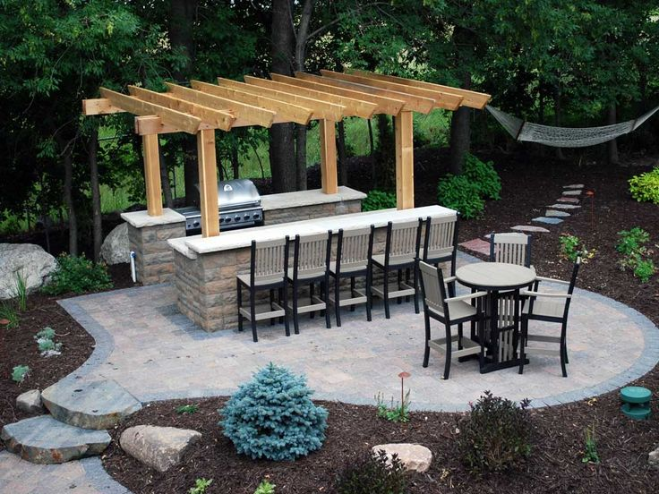 36 best images about outdoor kitchen on pinterest diy for Simple outdoor bar ideas