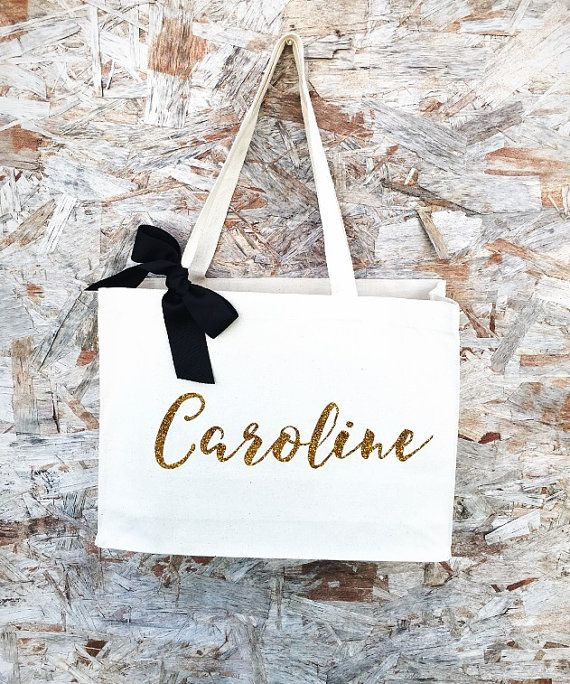 Bride TeamI Bridesmaid Bag Custom Tote Bag by PaolaBrownShop