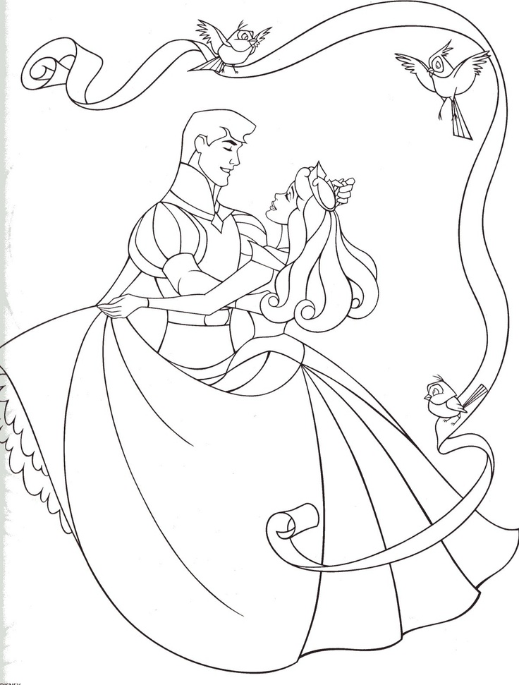 Aurora & Phillip Coloring Pages Pinterest Aurora