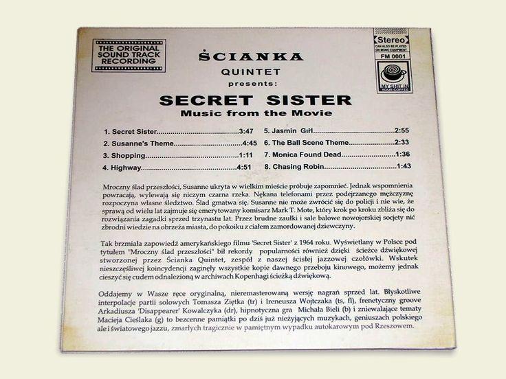 Secret Sister EP / okładka - tył /