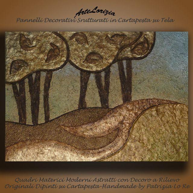 Quadri a Rilievo in Cartapesta - Pannelli decorativi - Arte Contemporanea    di Patrizia Lo Re: Visione Fiabesca
