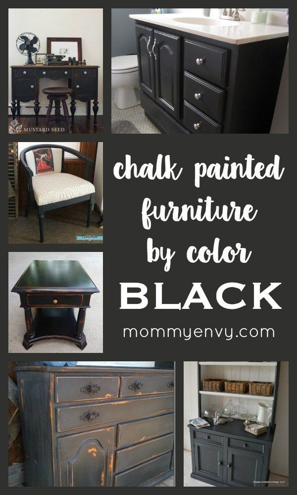 Chalk Painted Furniture By Color Series Black Black Chalk Paint Can Turn Any Piece Into A Classy Black Painted Furniture Redo Furniture Furniture Makeover