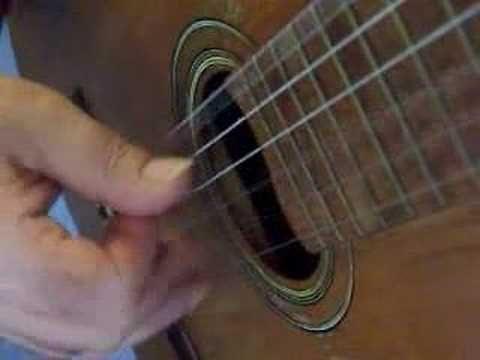 Flamenco guitar lesson - arpeggio - 4 string