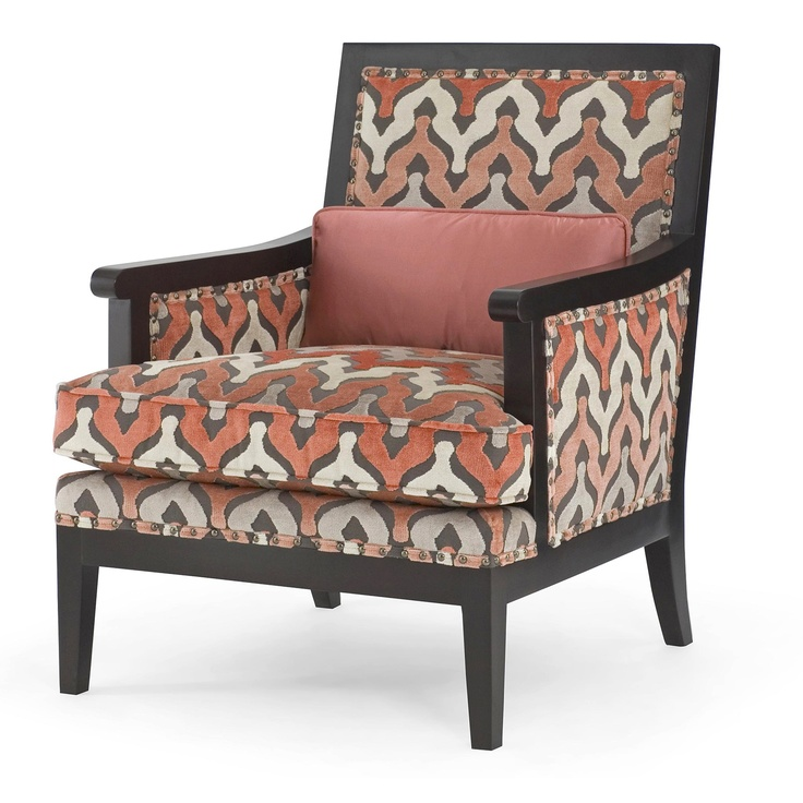 "TOP PICK BY PULP DESIGN STUDIOS www.pulpdesignstudios.com     ""Bernhardt wasn't #hpmkt's fall 2012 Best In Show for no reason. Their pieces are top notch quality and style. The Morris Chair is a designer's best friend because it can take on many different personas in a space, with a style that still stands on it's own.""    Bernhardt - www.bernhardt.com - Morris Chair from Bernhardt Interiors, in coral wishbone pattern.   Showroom: IHFC D601  #hpmkt"
