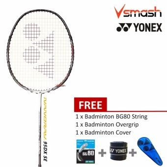 Yonex Nanoray 95DX Cool White Setiawan Limited Edition Badminton Racket Package