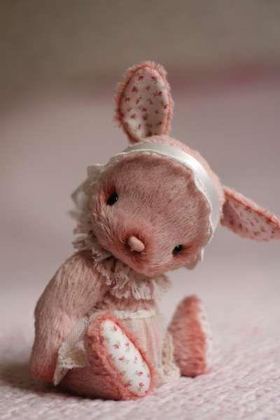 Artist teddy bunny Anka by By Anzhelika Costin   Bear Pile.....(CUTENESS!!).....