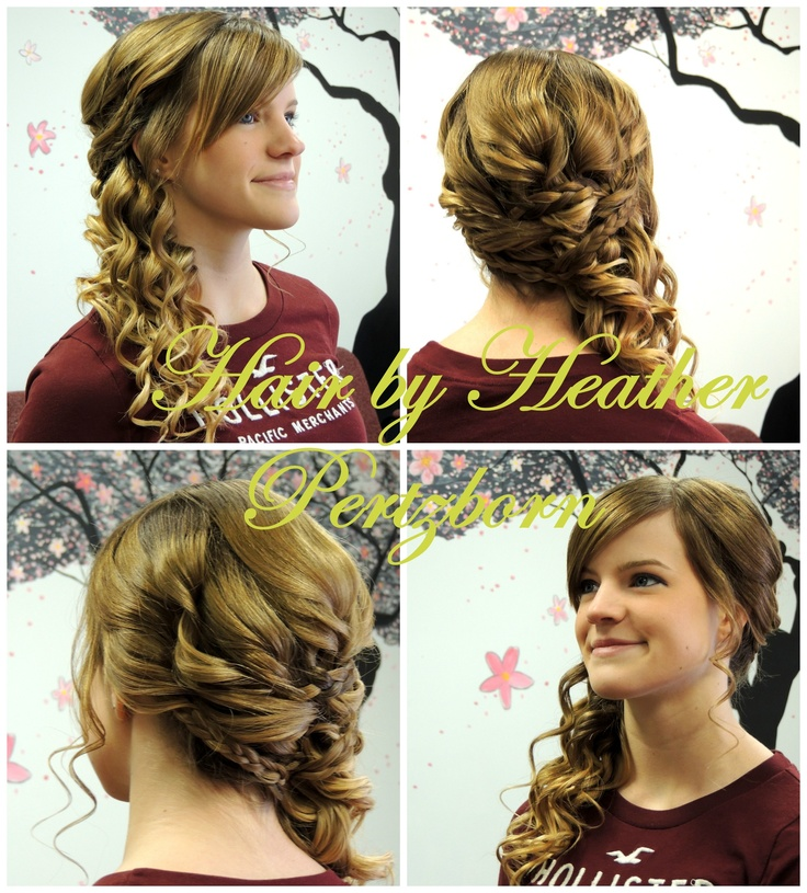 prom hair updo side curls braids