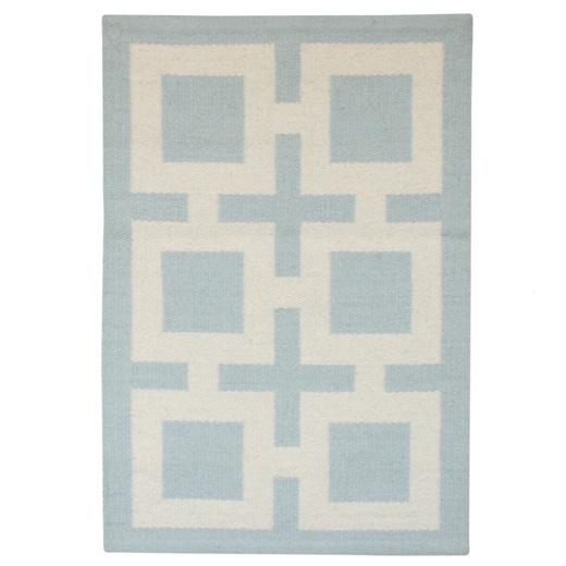 light blue richard nixon rug...I'm definitely a Johnathan Adler fan!