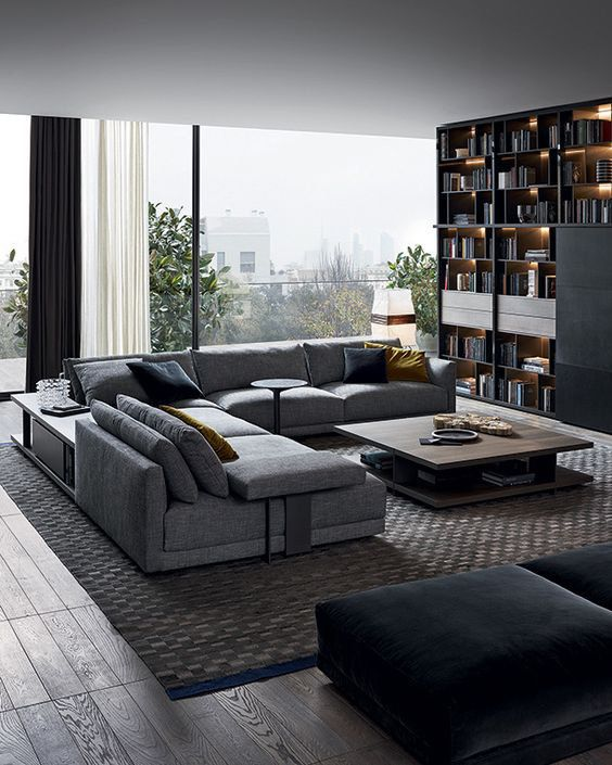 Love this couch and rug