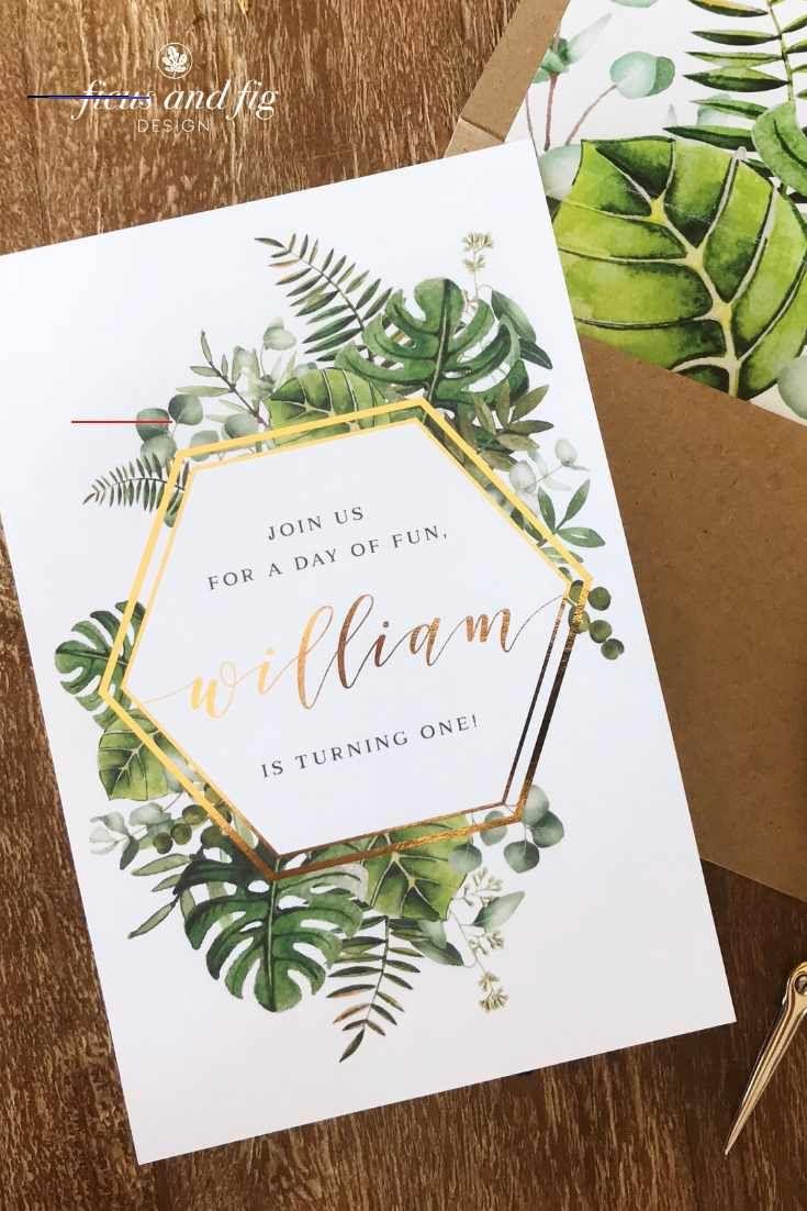 Ficus And Fig Design Custom Wedding Invitations Australia Tropicalbirthdayparty In 2020 Einladungskarten Geburtstag Einladung Zur Geburtstagsparty Einladung Ideen
