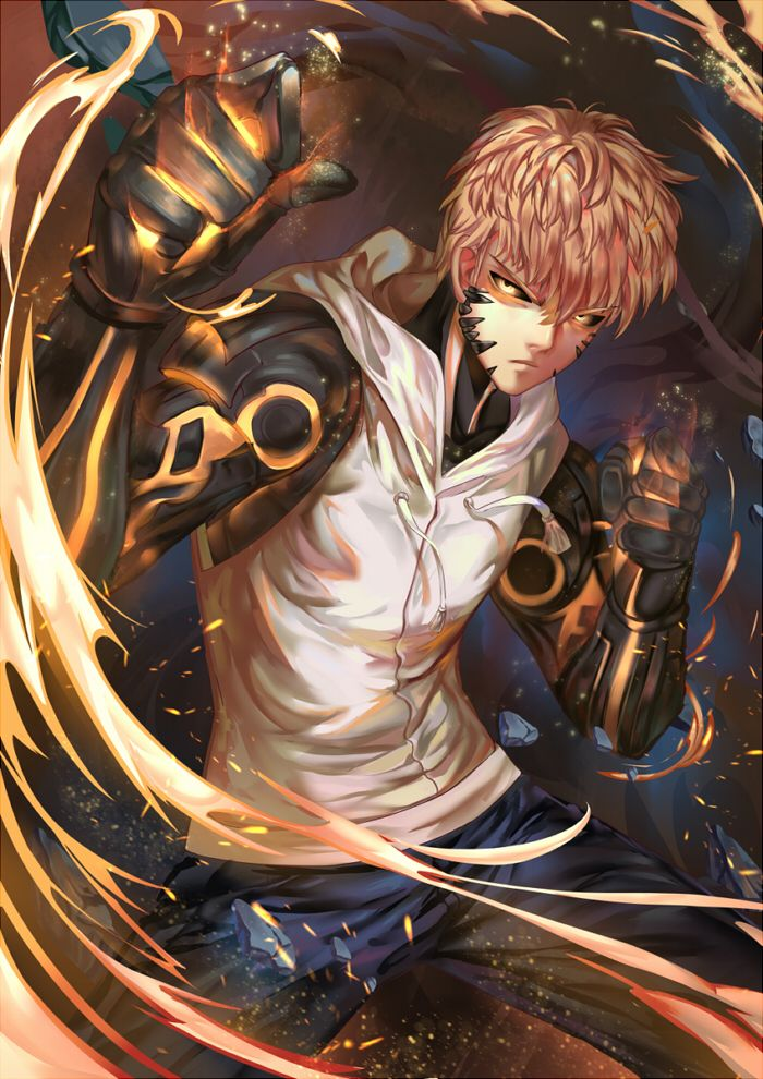 One Punch Man || Genos is my favourite! Read more about it here: http://www.animedecoy.com/2016/06/onePUNCHman.html