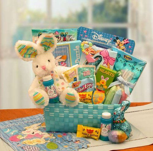 Easterspring goodies 1004 pinterest cottontails blue easter gift basket giftbasketsassociates httpsamazon negle Image collections
