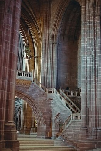 Liverpool Anglican Cathedral  Canon ae1 Programme 35mm Film Camera 50mm f1.8 Prime Lens  Would be interesting to know when the last know film shot of the Cathedral interior was done