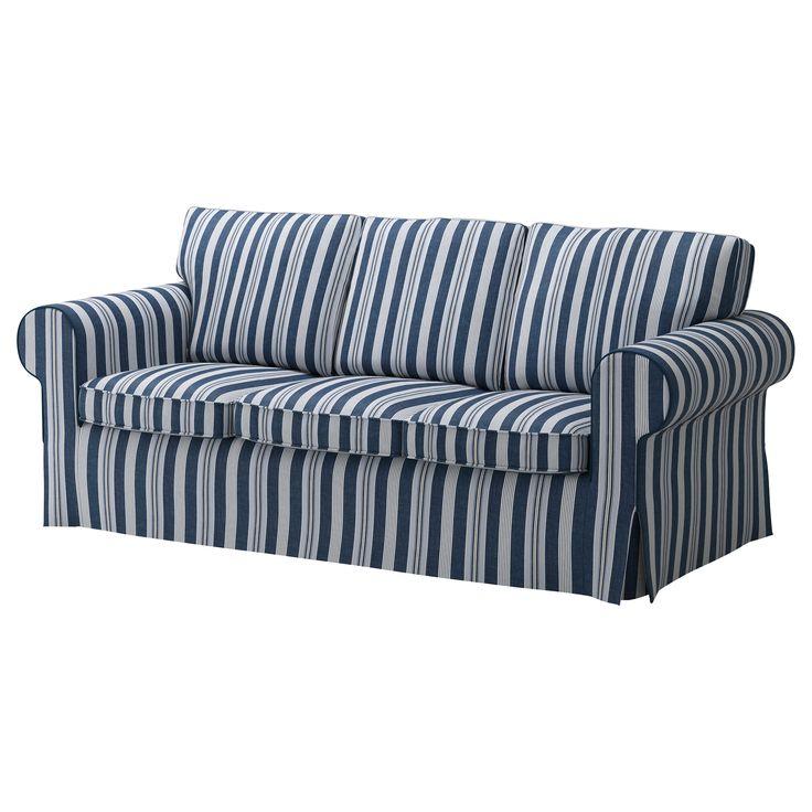 Blue white striped sofa bed sofa menzilperde net for Blue and white sofa