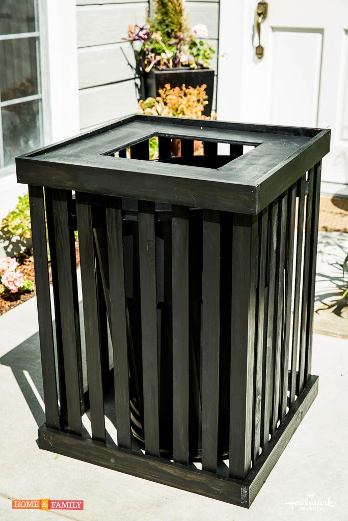 Save A Ton Of Money And Update Your Trash Can With This Great DIY Trash Can