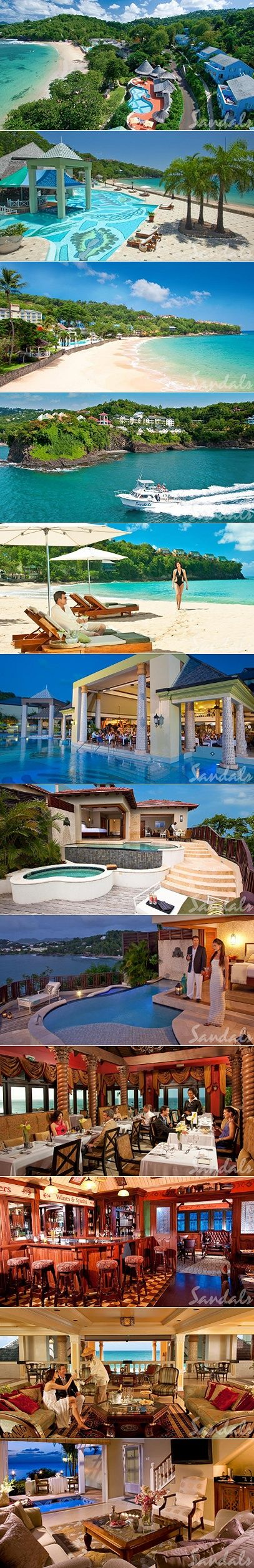 The Top Caribbean All Inclusive Resorts for Couples |Sandals La Toc St. Lucia - Paradise Getaways. #LuxuryHolidays
