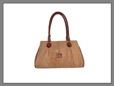 Handbag Rita -genuine cork skin and leather