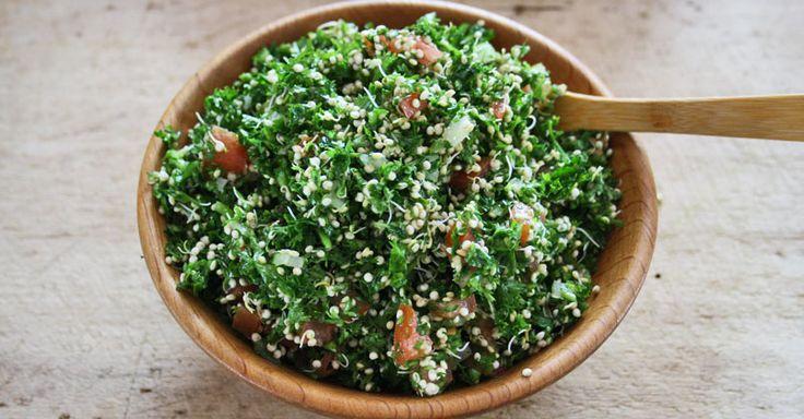 Taboulé au quinoa germé