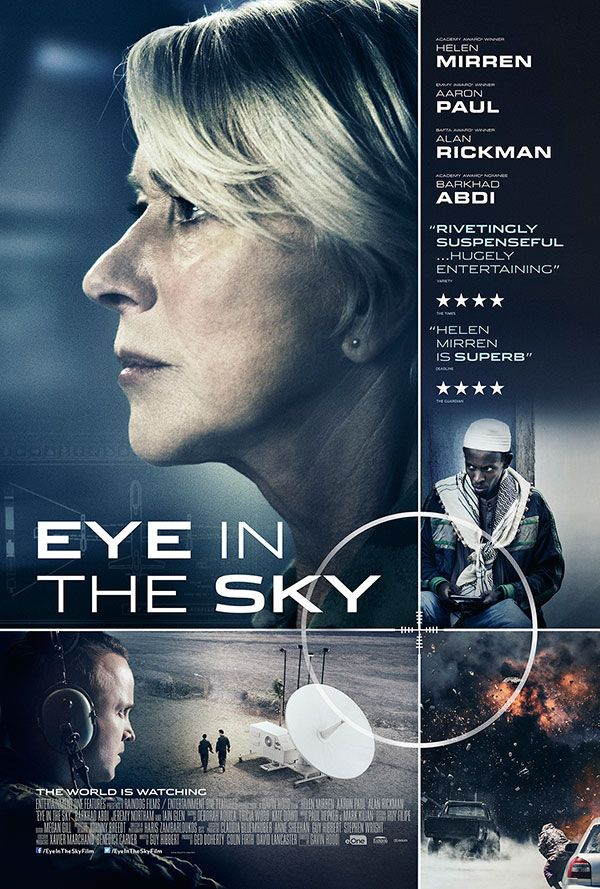 Eye in the Sky, on the flight to Seattle, September. Great film, full of suspense.