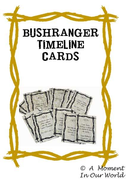 We have been learning about the Australian Bushrangers over the last few days. To help the boys with their learning, I have made some Bushranger Timeline Cards, Notebooking Pages and a Bushranger Book. I also made some Bushranger Timeline Cards which the boys used to learn what happened in which particular year. You can purchase …