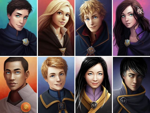 All 8 of the amazing Keeper of the Lost Cities character portraits, done by @LostiesArt on twitter